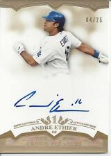 ANDRE ETHIER AUTO ON CARD # 04/25!!! GOLD! 2011 Topps Tier One # CP-AE DODGERS!!