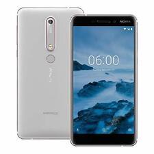 "Nokia 6.1 TA-1050SS 4G (5.5"", 64GB/3GB) SmartPhones Blk, White Unlocked AU STK"