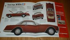 ★★1962 FACEL VEGA II V8 ORIGINAL IMP BROCHURE SPECS INFO 62 54-64★★