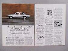 Mercedes-Benz 300SD Turbodiesel Sedan Double-Page PRINT AD - 1978