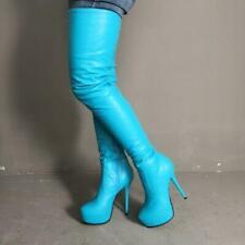 Sexy Women's Thigh High Over-the-Knee Boots Zipper High Heels Boots Shoes Big Sz