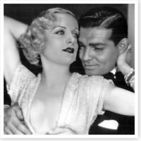 Clark Gable and Actress Carole Lombard 10x10 Silver Halide Photo