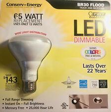 Feit Electric 65 Watt BR30 Dimmable Flood LED Light Bulbs NEW