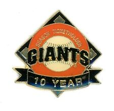 SF Giants 10-Year Season Ticket Holder Pin Imprinted Products san francisco g84