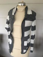Express Womens Xs Extra Small Gray White Stripe Sweater Square Collar