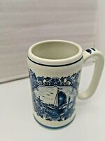 Royal Goedewa Hand-painted in Holland Delft -Blauw- Blue Windmill  Mug
