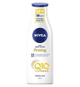 Nivea Q10 LIGHT FIRMING BODY LOTION providing a smooth skin feeling 250 ML