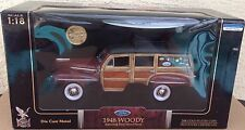 1948 Ford Woody 1:18 Road Signature burgundy surfboard real wood panel Coin Flaw