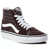Vans sk8-hi chocolate black sneaker shoes men size 11 / woman size 12.5
