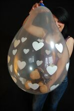"""3 x Qualatex 18"""" Weithalsballons HEARTS/HERZEN (VERPACKUNGSBALLON*STUFFER)"""
