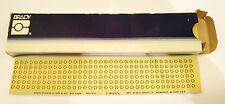 BRADY  SL-11  LABEL, WARNING, 6.35MMX6.35MM, 23 SHEETS /216 PCS EA (PARTIAL BOX)
