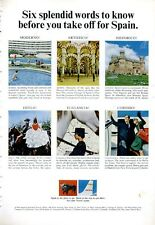 1966 Iberia Airlines of Spain Words to know before visiting Spain PRINT AD