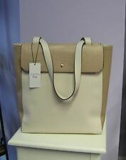 Andie Blue Paris Beige Cream Tall Tote Shopper Handbag