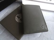 TIMBERLAND Olive Leather Vertical WALLET IN BOX for Cards Notes New