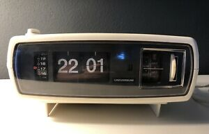 Klappzahlen Wecker Radio Mid Century 60er 70er Universum / nur Radio !!!!!!
