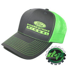Ford Powerstroke richardson 112 hat truck Charcoal Gray GREEN mesh snap back