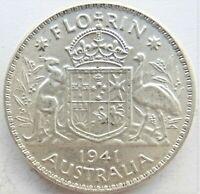 1941 AUSTRALIA George VI, Florin, Grading EXTRA FINE. #3