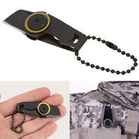 Pocket Mini Steel EDC Tool Military Knife Zipper Outdoor Survival