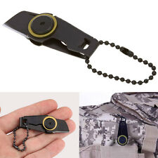 Military Pocket EDC Zipper Blade Keychain Self Defence Outdoor Survival Tool