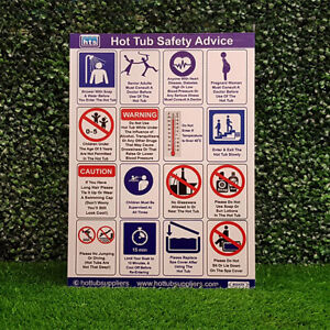 Correx A3 Commercial Hot Tub Safety Sign | FREE POST