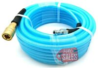 "1/4"" X 50' Air Hose 50 FT FLEXIBLE BRAID ROOFING CLEAR W/ AIR COUPLERS"