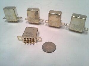 5 New Aviation Relays from Comm. Instr. B07D191BC1-0333, 10Amp, 2PDT, 28VDC.