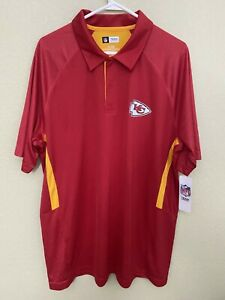 Mens Kansas City Chiefs Sideline DRI FIT Performance Jersey POLO Shirt