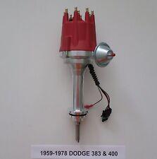 small cap RED DODGE BIG BLOCK 1959-1978 383 & 400 PRO SERIES HEI Distributor