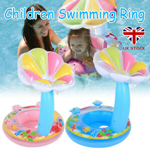 Baby Swimming Sun Shade Float Seat Boat Inflatable Kids Water Swim Pool Aid Toys