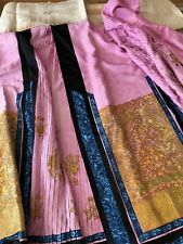 New ListingAntique Textiles -Antique Chinese Embroidered Silk Skirt W/ Metallic Embroidery