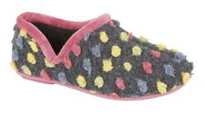 Sleepers Jade Dotted Full SLIPPER High Quality Ladies UK 6 / EU 39 Light Blue/multi Knitted Textile