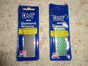 DMT Two Mini Knife Sharpeners Extra Coarse W7X and Extra Fine W7E NOS