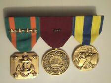 Us Navy medal bar of 3 medals