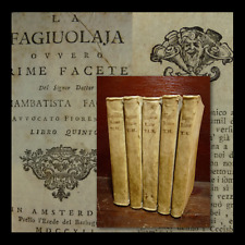FAGIUOLI G. : LA FAGIUOLAJA  RIME FACETE - AMSTERDAM 1739 Barbagrigia 6 Volumi