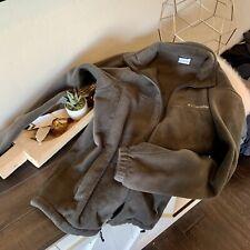 Columbia Men's sz L Solid Brown Fleece Zip Pockets Full Zip Fleece Jacket