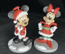 Disney Mickey Mouse And Minnie Mouse Christmas Holiday Collection Ornament Set