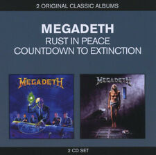 Megadeth - Rust In Peace / Countdown To Extinction 2 x CD - SEALED NEW