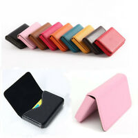 Waterproof Business ID Credit Card Wallet Holder PU Leather Pocket Case Purse