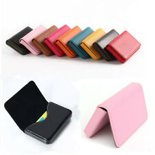 New Waterproof Business ID Credit Card Wallet Holder PU Leather Pocket Case