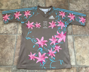 ADIDAS PARIS SF FRANCE - MENS - RUGBY UNION SHIRT - JERSEY TOP FLORAL - LARGE XL