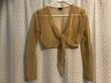 Women's  clothing, golden crop top, Cejon, USA, Small.