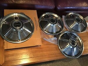 1965 Mustang NOS 14 Inch Hubcaps, set of 4