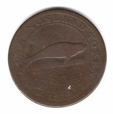 1815 Magdalen Island One Penny Success To The Fishery Copper Canada Token A133
