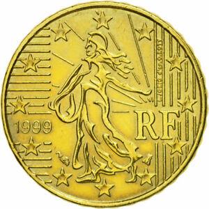 [#582018] France, 10 Euro Cent, 1999, SUP+, Laiton, KM:1285