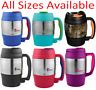 Stainless Steel Insulated Coffee Mug Handle Lid Tea Classic Cup Desk Travel Desk