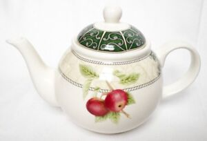 REDUCED  ❀ڿڰۣ❀ ARTHUR WOOD Six Cup CLASSIC FRUITS Earthenware TEAPOT ❀ڿڰۣ❀ New