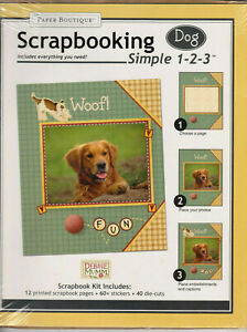 DOG Scrapbooking Kit 12 Pages~60+Stickers~40 Die-Cuts Debbie Mumm Factory Sealed