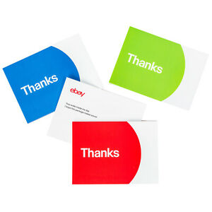 Thank You Cards – Red, Blue and Green
