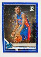 2019-20 Donruss Optic Sekou Doumbouya BLUE Velocity Prizm RC #164 Pistons Rookie