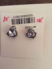 Betsey Johnson Goldtone ANCHORS AWAY Faceted Blue Heart Stud Earrings $25. BL 7